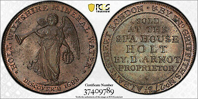 ND (ca 1790) 1/2D Conder Token Wiltshire Holt DH-3 MS63BN PCGS-From VDB Coins