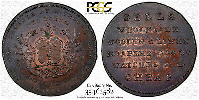 ND Scotland 1/2D Conder Token Angusshire Dundee DH-14 MS62BN PCGS-From VDB Coins