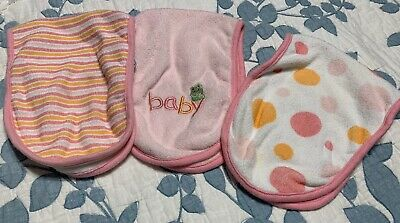 Infant Born Lot of 3 Burping Cloths