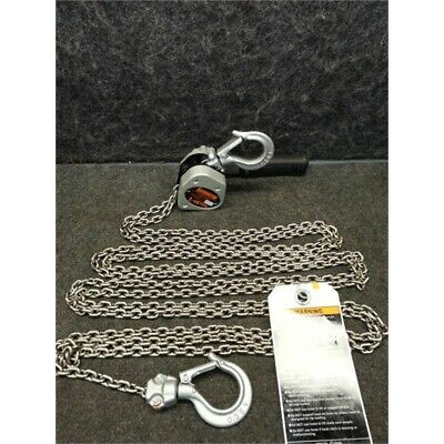 "Harrington LX003-15 500 lb Lever Chain Hoist, 15 ft Lift, 51/64"" Hook Opening"