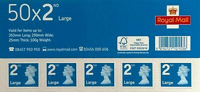 2019- 25/03- 2805646 SBP2i Machin 50 x 2nd Class Large Stamps S/A Business Sheet