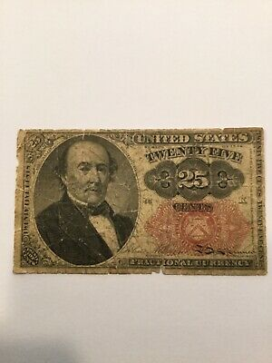 1874 25 Cent U.S. Fractional Currency