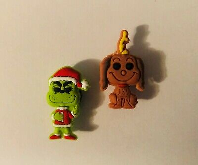 The Grinch and Max the Dog Shoe Charm Set for your Crocs/Jibbitz