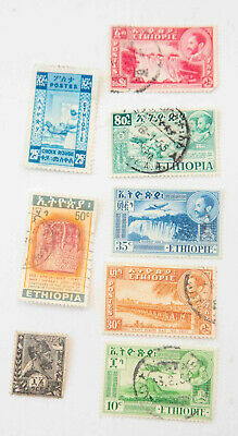 1936-1952 Ethiopia Stamp Lot of 7 with Definitive