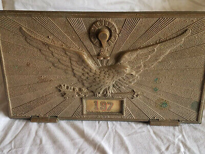 Bronze flying eagle P.O. box door & frame, 11x7, with combination