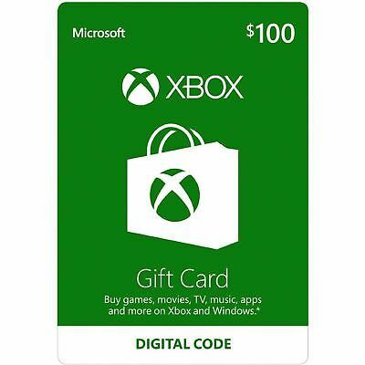 $100 XBOX Live USD Gift Card for XBOX ONE and 360 USA ONLY
