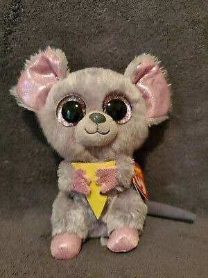 "Ty Beanie Boo's ""Squeaker"" the Mouse 6"" plush w/tag *Very Good*"