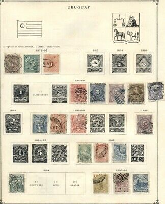 URUGUAY & VATICAN CITY: Collection of Mint & Used on Pre-1940 on Scott Pages