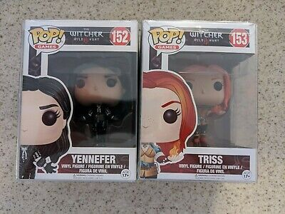 Funko POP The Witcher Wild Hunt 152 Yennefer and Triss 153 Vaulted in Protectors