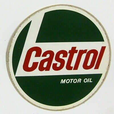 * Original Castrol Motor Oil Authorized Dealer Store Hours Sign - Inside Window