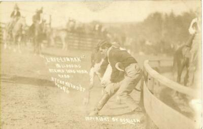 Real Photo Pendleton OR Round Up Rodeo Postcard View 1915