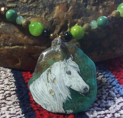 Artist Painted Native Gypsy Spotted Horse Pony Original Art Western Jewelry