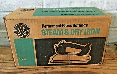 Vtg GE General Electric Steam & Dry Clothes Iron F76 New NOS Unopened Box USA