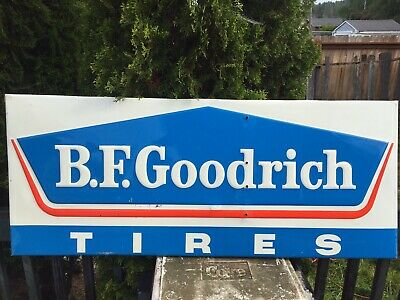 "BF Goodrich Dated 1968 Selfframed Sign 58""LX24""H"