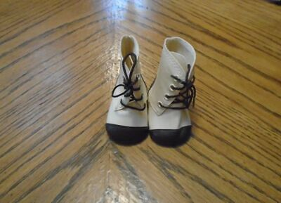 American Girl Kirsten Boots Brown And Cream Colored