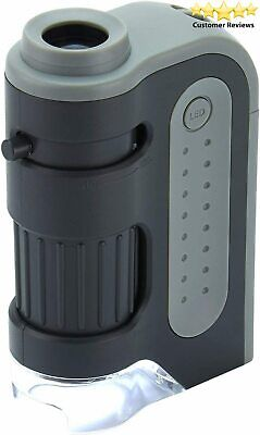 Carson MicroBrite Plus 60x-120x LED Lighted Pocket Microscope with Single Pack