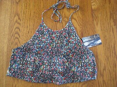 Urban Outfitters Pins and Needles Tie Back Cropped Halter Top Shirt NWT Medium