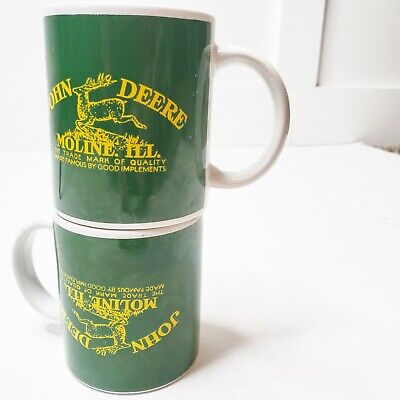 John Deere Mugs Moline Illinois Coffee Diner Mug Green Yellow Licensed Gibson