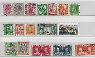 Old stamps New Zealand & Niue