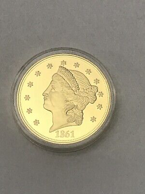American Mint Copy 1861-O Double Eagle Gold Plated Coin