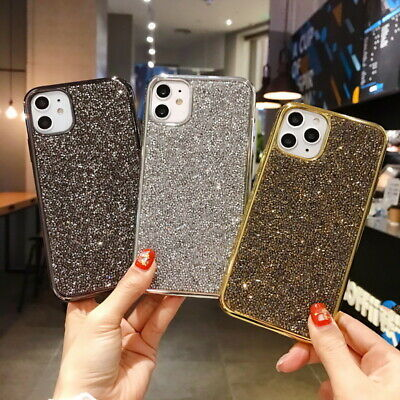 Luxury Diamond Bling Slim Silicone Case Cover For iPhone SE 11 Pro Max XS XR 8 7