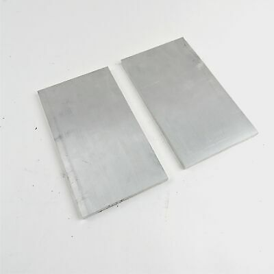 ".375"" thick  3/8  Aluminum 6061 PLATE  7.625"" x 12.375"" Long QTY 2  sku 137079"
