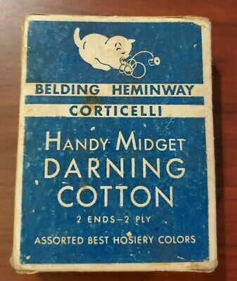 Collectable sewing thread spools. Belding Heminway Corticelli darning cotton