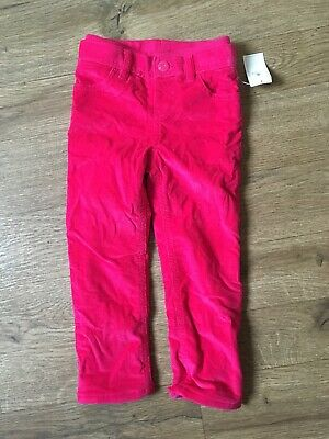 Girls Baby Gap Pink Lined Cords Trousers Warm Size 2 Years Brand New