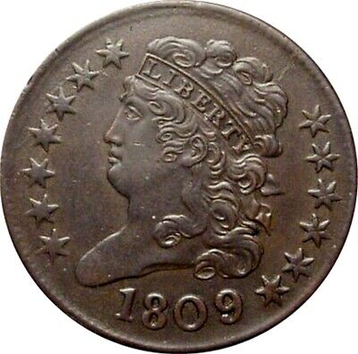 1809/6 Classic Half Cent--Lovely Uncirculated Coin