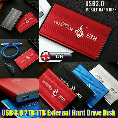 2.5'' USB 3.0 2TB External Hard Drive Disk HDD Fit For PC Laptop Portable UK