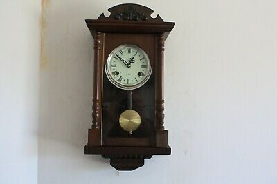 nice old  .....WALL CLOCK CHIMING .......working good
