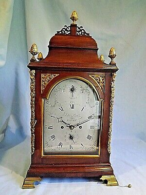 "Superb Mahogany ""Verge"" Bracket Clock"" John Pratt Dover"""