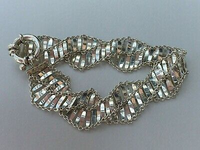 QVC 925 Sterling Silver Ornate Bracelet Fully Hallmarked 7.5 ""