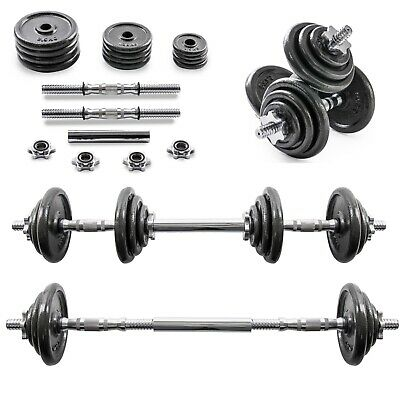 ✅20 KG Adjustable Dumbbell Barbell Weight Set✅Cast Iron✅*FAST & FREE DELIVERY*✅