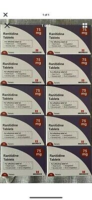 Ranitidine 75mg tablets 12 X20 Packet, Exp 10/21, Heartburn Tablets, Acid Reflux