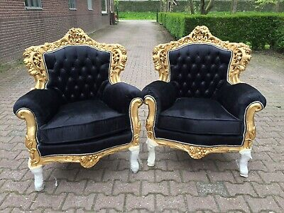 Italian Rococo set of two chairs.- a pair