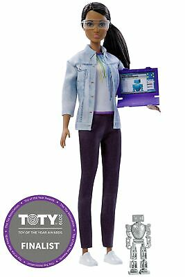Barbie Doll Robotics Engineer - 2018 Career of the Year - Brown Hair, Brown E...