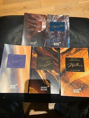 MONTBLANC LIMITED EDITION FOUNTAIN PEN BROCHURES -5no