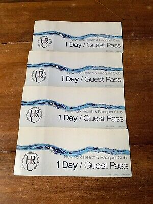 4 New York Health and Racquet Club Guest Passes