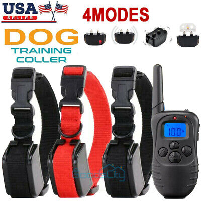 Waterproof 1000 Yards 2 Dog Shock Training Collar Remote for Large Med Small Dog