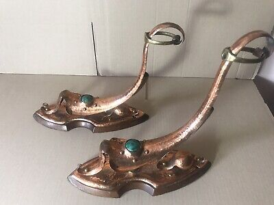 Wall lamp holders - pair - Antique - Arts and Crafts 1880 - 1920
