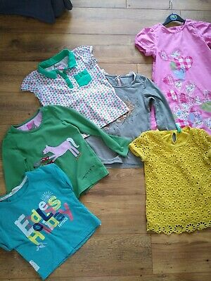 Girls Spring Summer Bundle Dress Tops Joules M&S Next Fat Face 6 items 6-7 yrs
