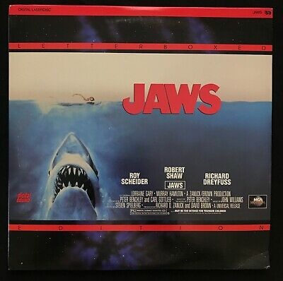JAWS on 2 Letterboxed Extended Play LaserDisc