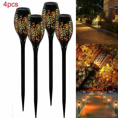 12LED Solar Lights Outdoor Waterproof Flickering Flame Solar Path Garden UK