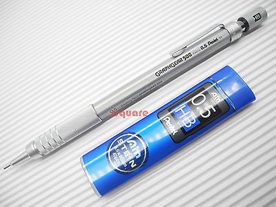 1 x Pentel PG515 Graphgear 500 0.5mm Mechanical Pencil for Arts +Pencil Leads