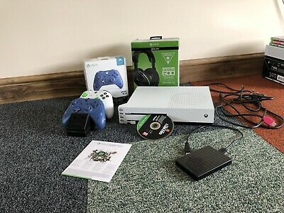 Microsoft Xbox One S 2TB Console & Play And Charge Battery Kit & Headset Bundle