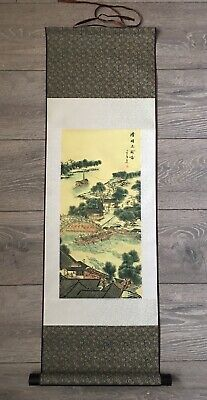 Chinese Painting Wall Hanging Scroll Fabric