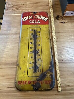 Antique Drink Royal Crown Cola Thermometer Working Best By Taste Test