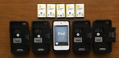Lot: 5 Untested Linea Pro Barcode Scanner & MSR Reader Cases w/ iPod Touch A1367