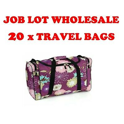 Job Lot Wholesale Pack of 20 Travel Cabin Approved Flight Bags Holdalls New